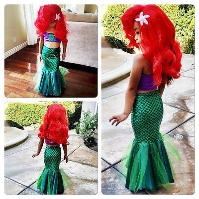 The Little Mermaid Tail Princess Girls Costume