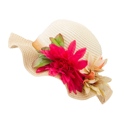 Mother Daughter Lady Wide Brim Summer Straw Hat