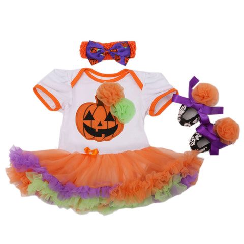 Pumpkin Baby Girl Halloween Tutu Dress