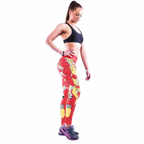 Red Iron Man Sport Leggings