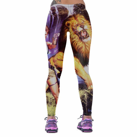 Sporty Lion/Tomb Raider High Waist Leggings