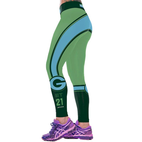Green No. 21 Sport Leggings