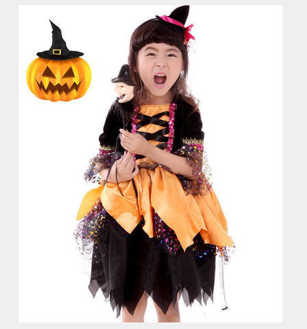 Kids Witch Halloween Costume