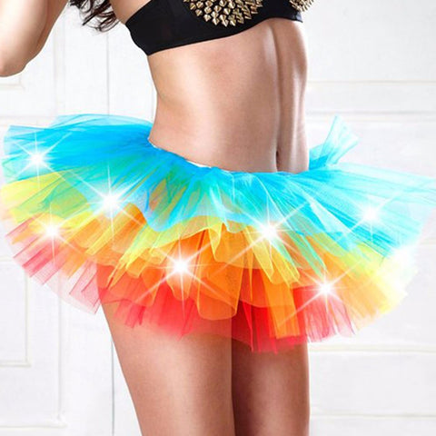 LED Tutu Colorful Skirt for Adult Woman