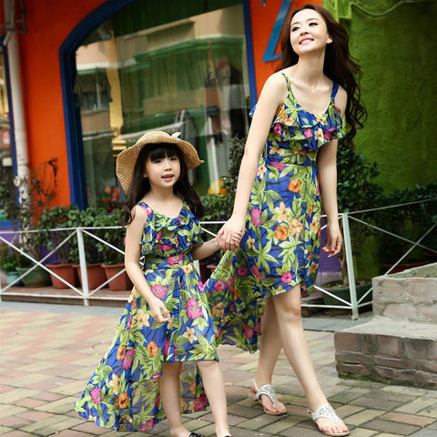 Floral Mom and Daughter Dresses