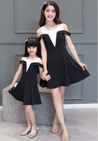 Mother Daughter Strapless Dress