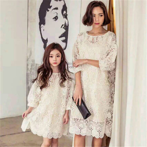 Mother Daughters Lace Dresses