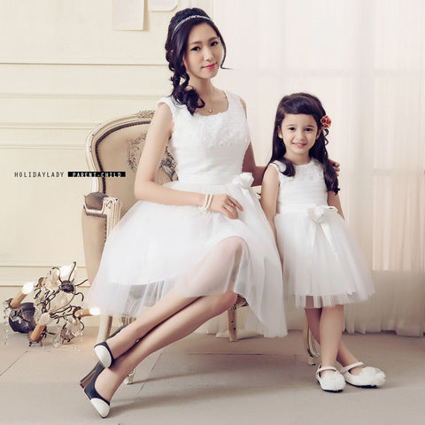 Elegant Party Mother Daughter Matching Dresses