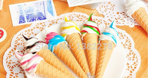 10 pcs Ice Cream style magnet pens for kids birthday parties