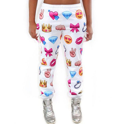 Emoji Hip Hop Sweatpants For Women
