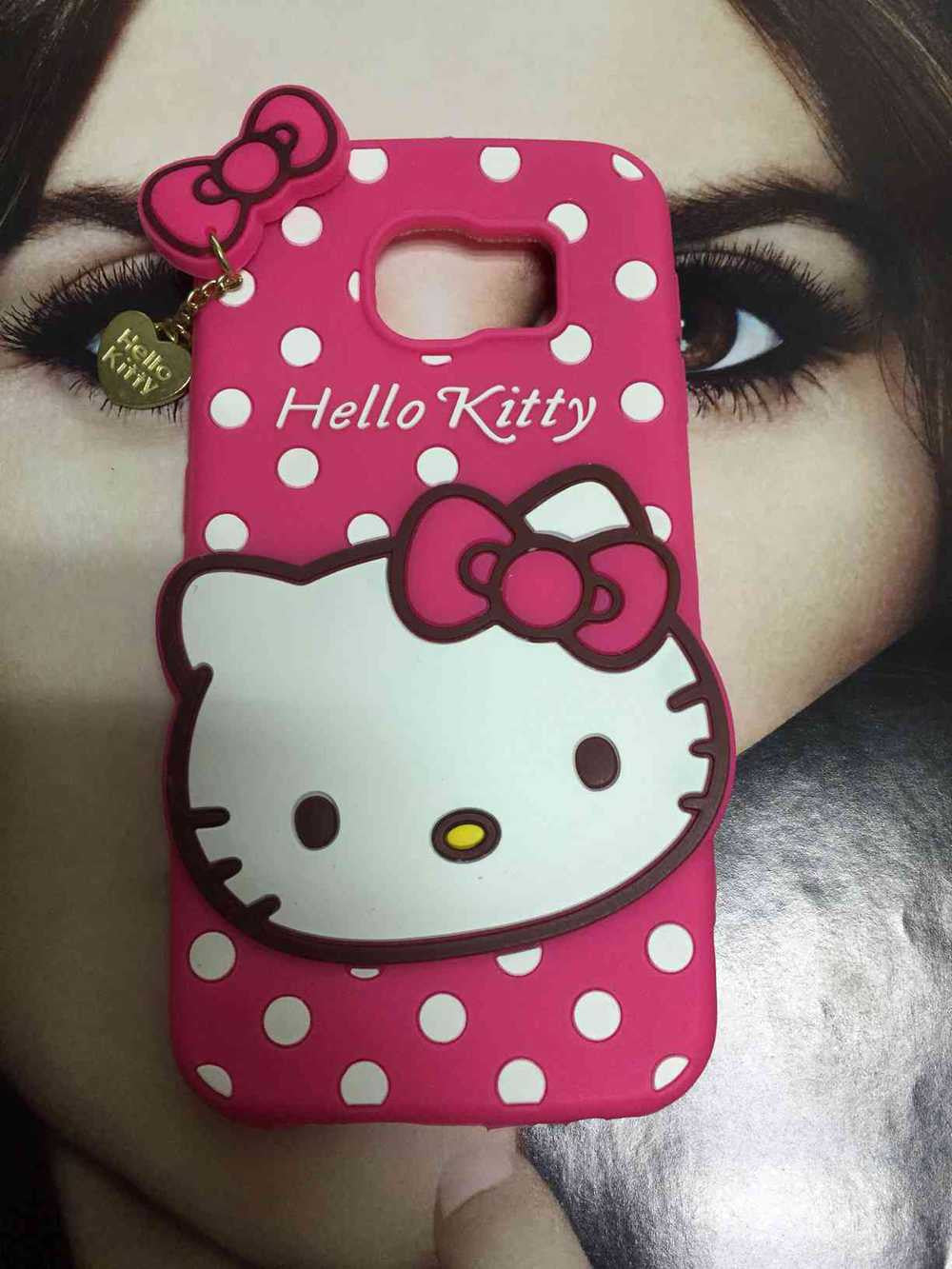 3D Hello Kitty silicone cover for Samsung Galaxy S6 Edge