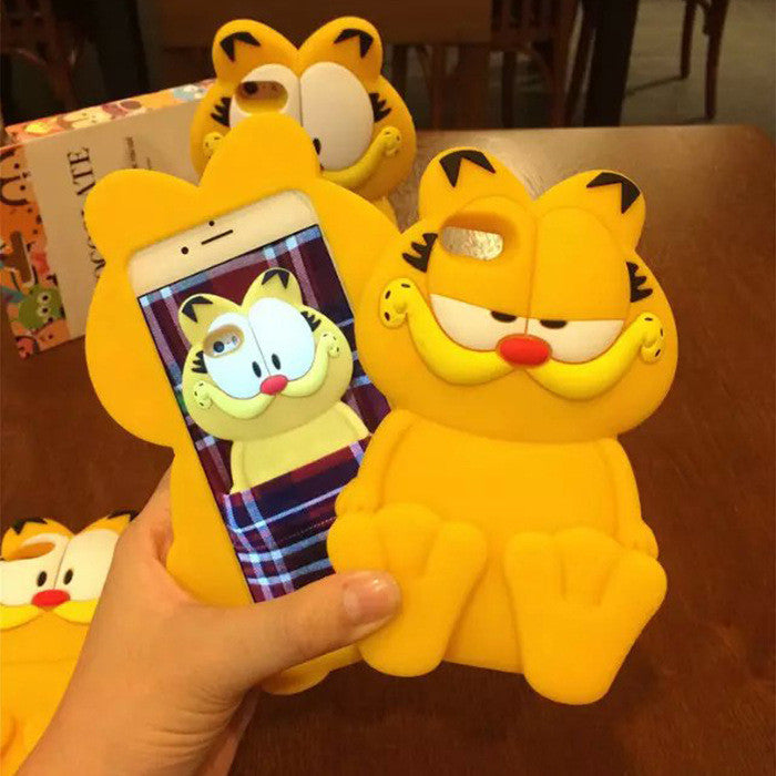 3D Garfield soft silicone cover For iPhone 6