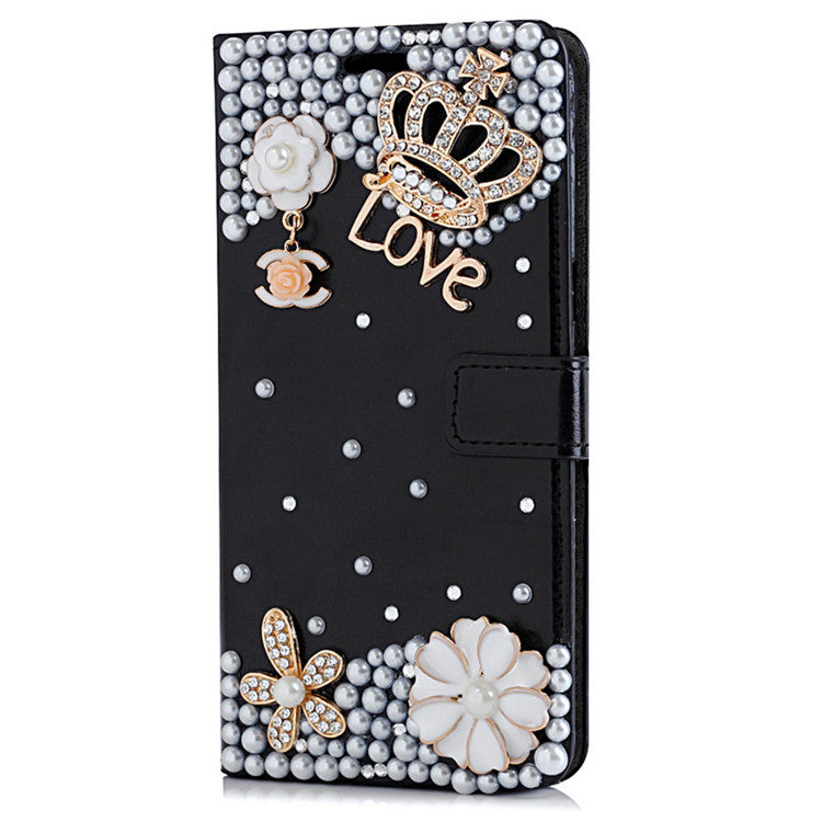 Luxury Bling Leather Protective Wallet flip stand cover for Samsung Galaxy S6 Edge Plus