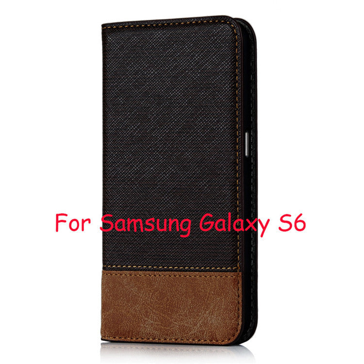 Magnetic Leather Flip Stand Wallet Case For Samsung Galaxy S6