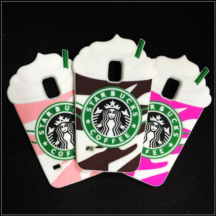 3D Starbucks coffee cup soft silicon back cover for Samsung Galaxy S5 I9600