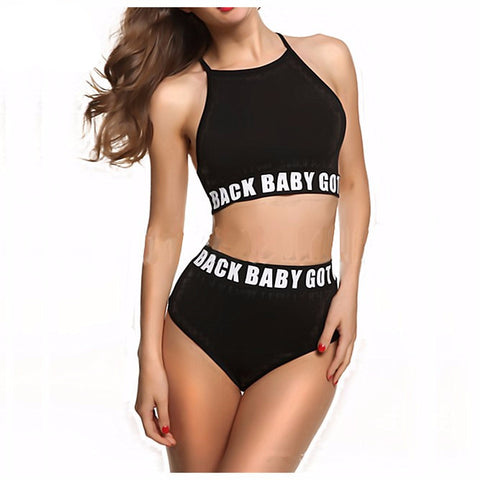 High Waist High Neck Bikini Set - Baby Got Back