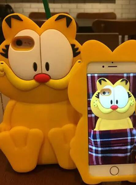 3D Garfield soft silicone cover For iPhone 5