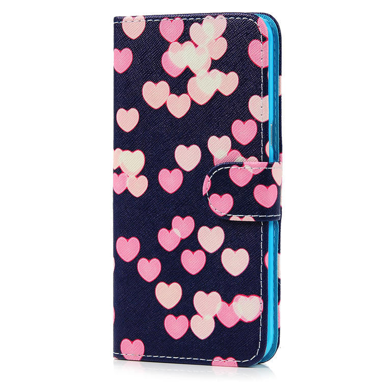 Painting PU Leather Stand Wallet Flip Case for Samsung Galaxy S6 Edge Plus