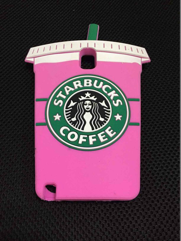 3D Starbuck Coffee Cup soft silicon cover for Samsung Galaxy Note 4