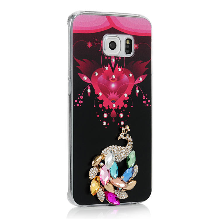 Rhinestone Painted Hard PC back cover for Samsung Galaxy S6 Edge