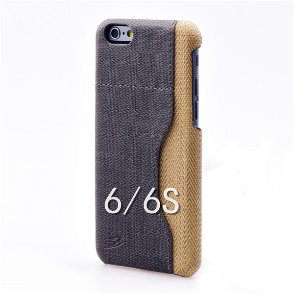 Luxury Stylish PU Fiber Leather cover with card holder for iPhone 6/6S