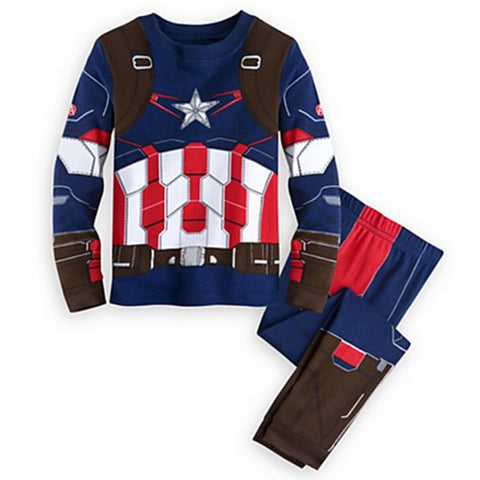 Captain America Comfortable Superhero Home Costume for Kids (2 to 10 years)
