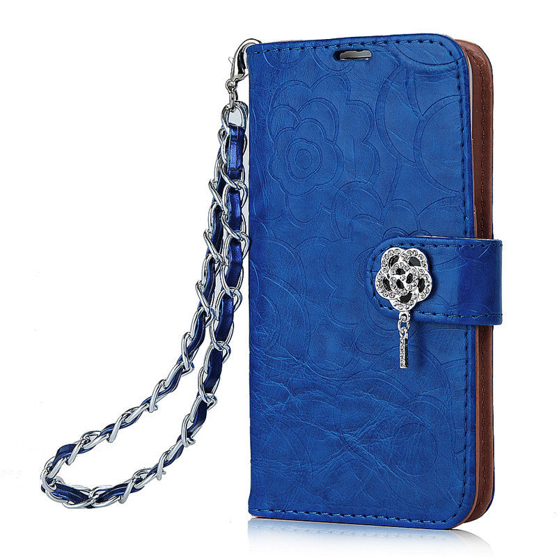 Luxury PU Leather Wallet Case For Samsung Galaxy S6 Edge
