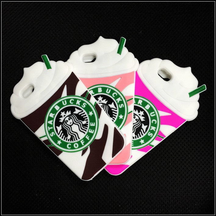 Starbucks Coffee Cups Soft Silicon cover for iPhone 4 4S