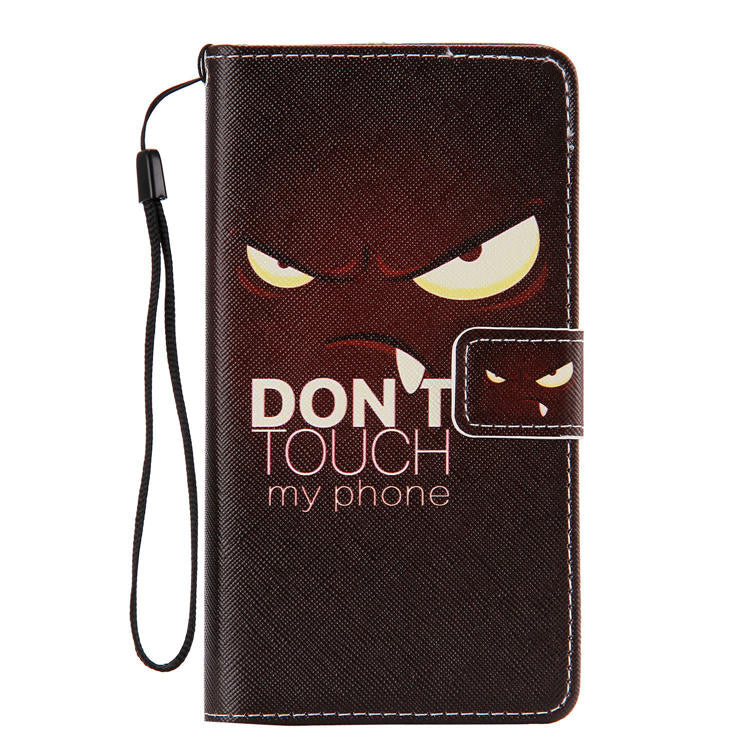 Dont Touch My Phone flip case with stand and cards slots for Samsung Galaxy Note 4