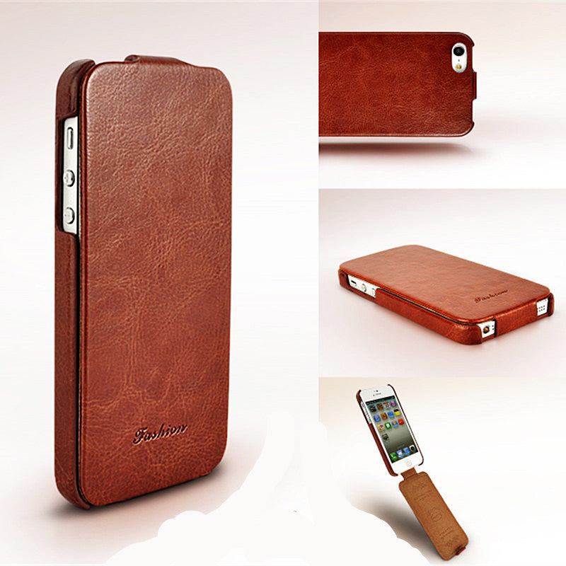 Leather PU Flip Magnetic Case For Apple iPhone 5/5S
