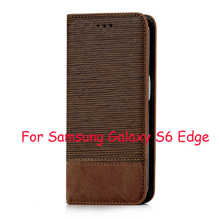 Magnetic Leather Flip Stand Wallet Case For Samsung Galaxy S6 Edge