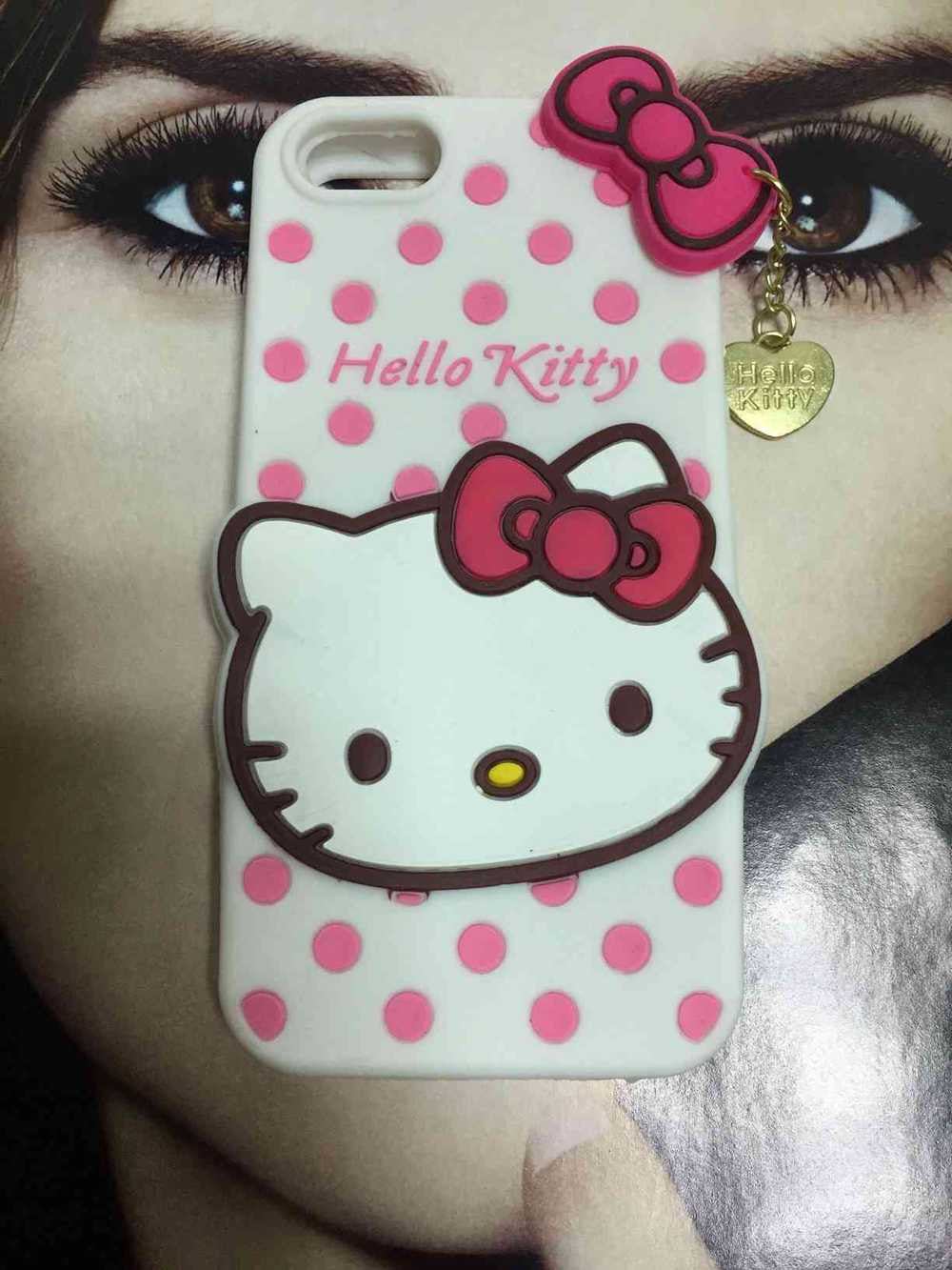 3D Hello Kitty silicone cover for iphone 4