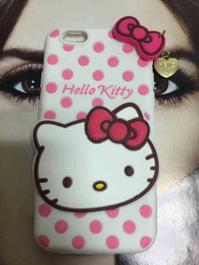 3D Hello Kitty soft rubber cover For iPhone 6