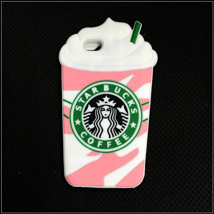 Starbucks Coffee Cups Soft Silicon cover for Apple iPhone 5