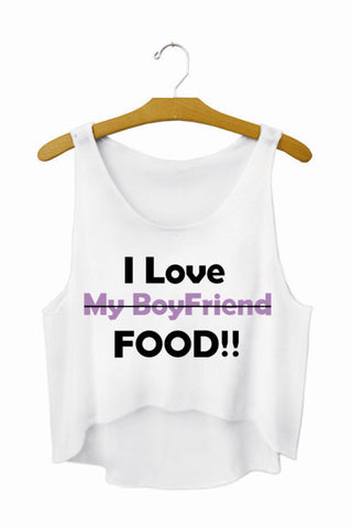 CLEARANCE: I Love Food Crop Top T-Shirt