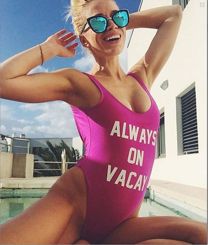 One Piece Swimsuit - Always on Vacay