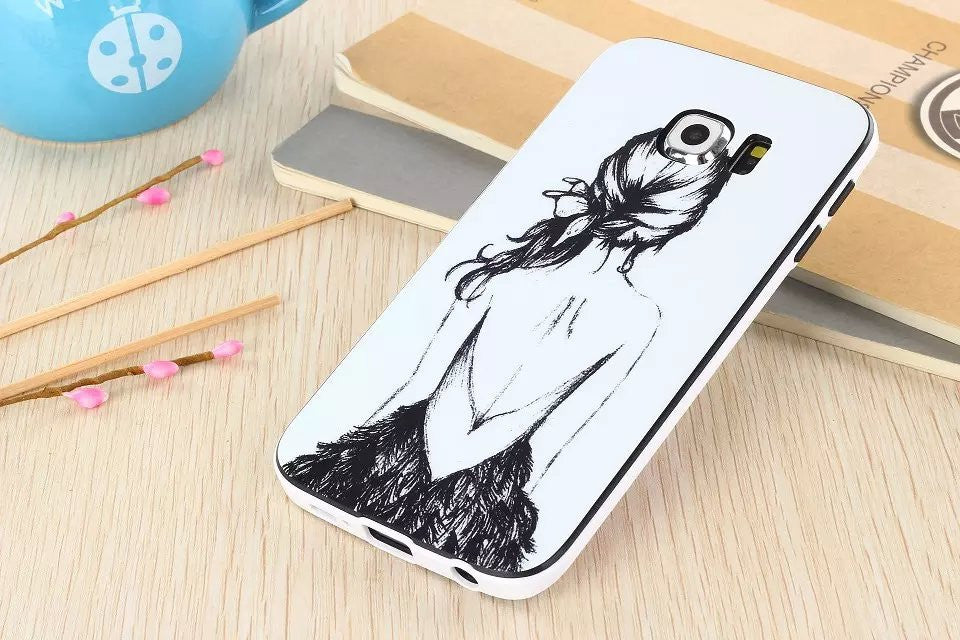Artistic Drawing Soft TPU cover for Samsung Galaxy S6 Edge