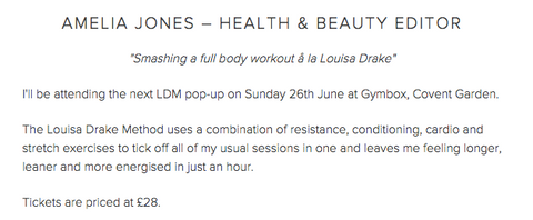 Amelia Jones Health and Beauty editor recommends LDM