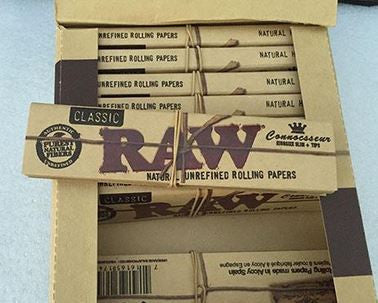 RAW Organic Connoisseur Papers w/ tips 24pk - Vape Mod Starter Kits  RAW Organic Connoisseur Papers w/ tips 24pk - CBD Hemp Oil Kush Boutique  420 Head Shop KushBoutique.com
