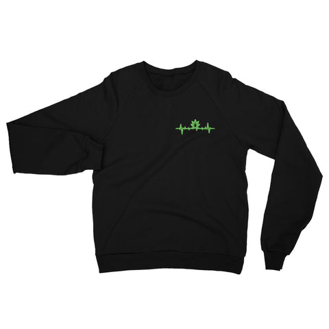 Weed Life Line California Fleece Raglan Sweatshirt