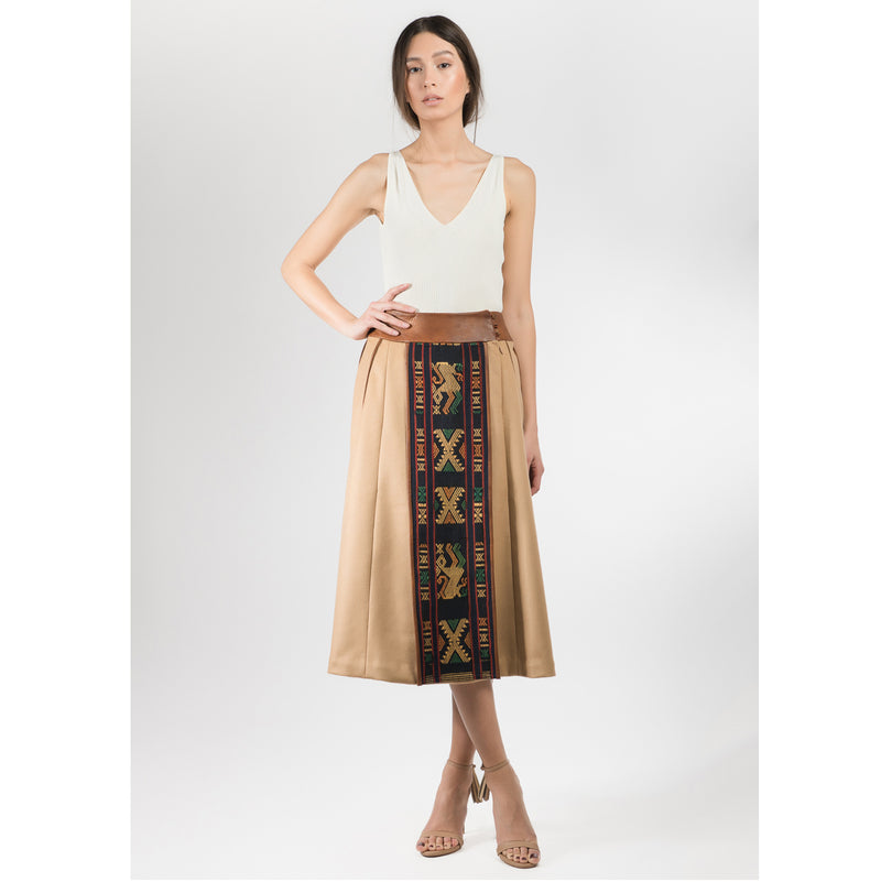 Chianti Leather Rusa Skirt