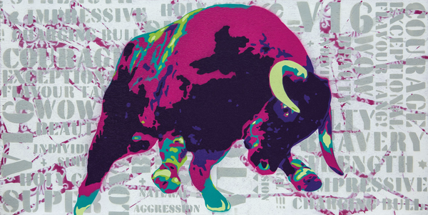 Pink Bull Fine Art Print by Angus Comyns for Comyns & Co. Wines