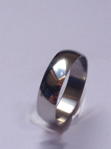SILVER STEEL PLAIN BAND RING