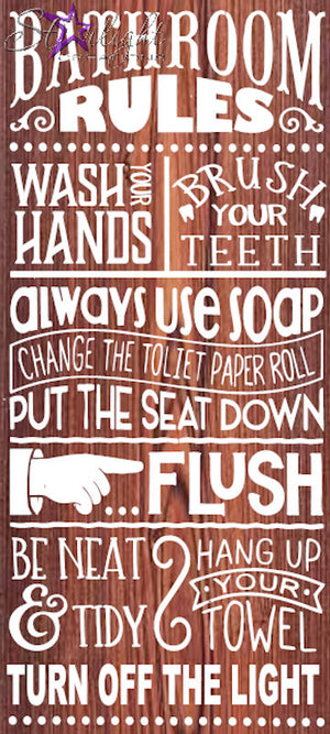 3017 - Bathroom Rules (12x24)