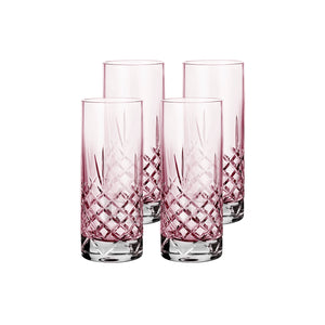 Crispy Highball Topaz // Pink - 4 Pieces
