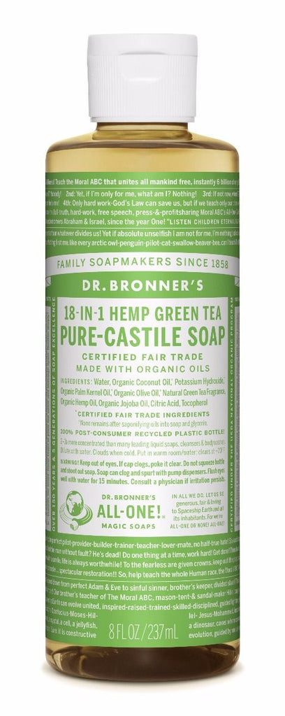 Dr. Bronner's - 18 - IN - 1 Hemp Green Tea Pure-Castile Soap - Afroshoppe.ch