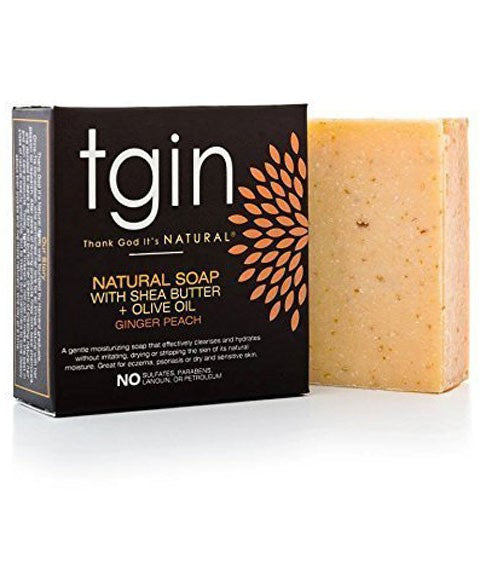 TGIN - Natural Soap with Shea Butter + Olive Oil - Ginger Peach - Afroshoppe.ch