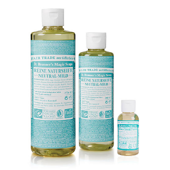 Dr. Bronner's - 18-IN-1 - HEMP UNSCENTED BABY-MILD  - Pure-Castile Soap - Afroshoppe.ch