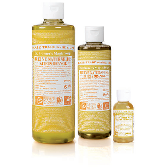 Dr. Bronner's - 18-IN-1 - HEMP CITRUS-ORANGE  - Pure-Castile Soap - Afroshoppe.ch