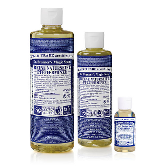 Dr. Bronner's - 18-IN-1 - HEMP PEPPERMINT - Pure-Castile Soap